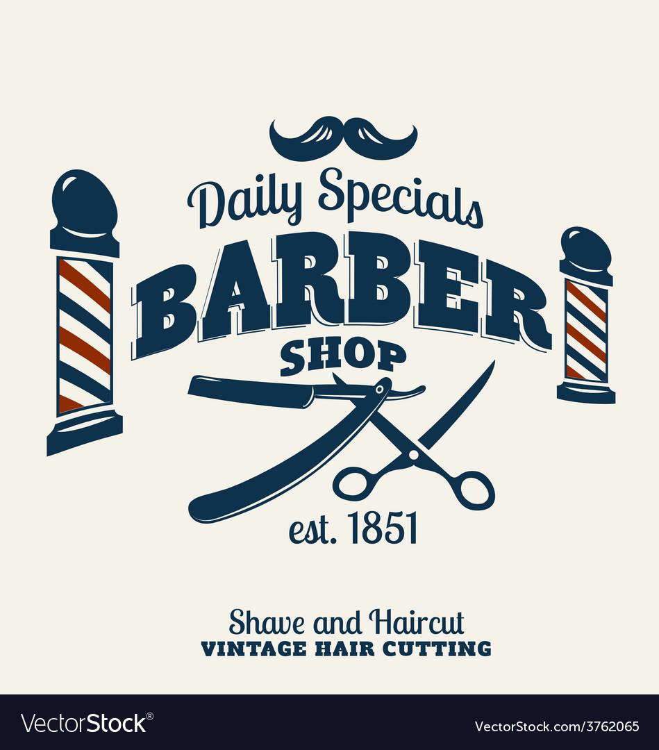 Barber shop emblem vector | Price: 1 Credit (USD $1)