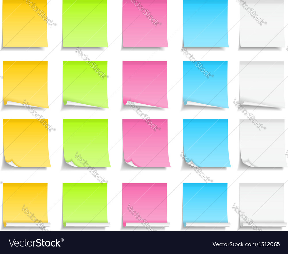 Colored sticky notes vector | Price: 1 Credit (USD $1)