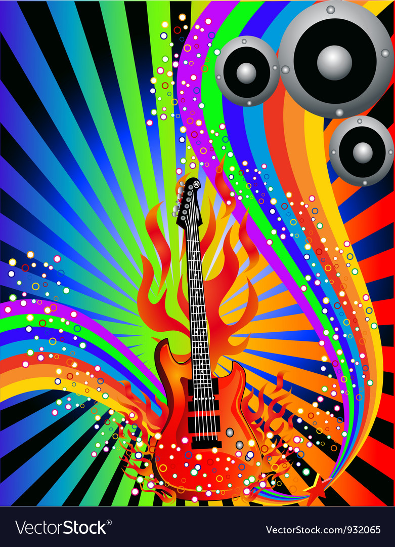 Decorative musical poster vector | Price: 1 Credit (USD $1)