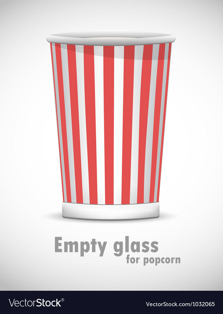 Empty glass for popcorn vector | Price: 1 Credit (USD $1)