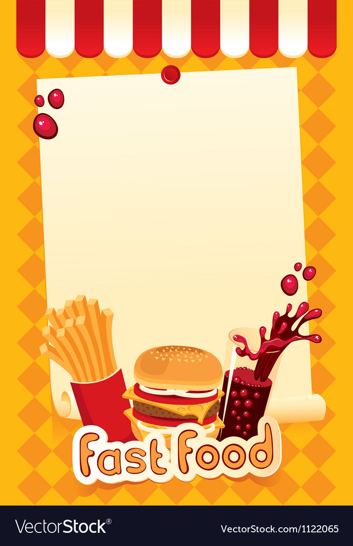 Fast-food menu vector | Price: 1 Credit (USD $1)