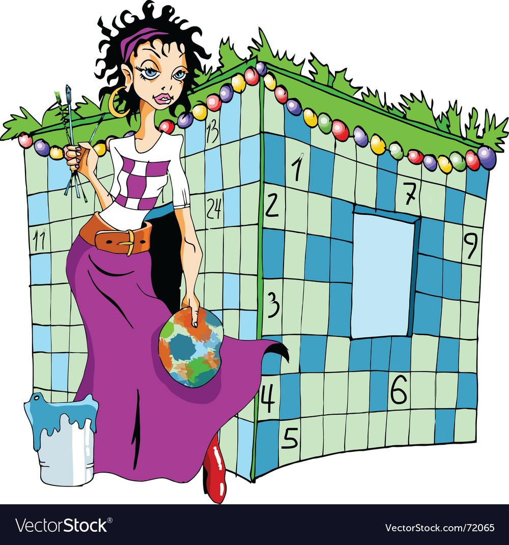 Female crossword puzzle vector   Price: 1 Credit (USD $1)