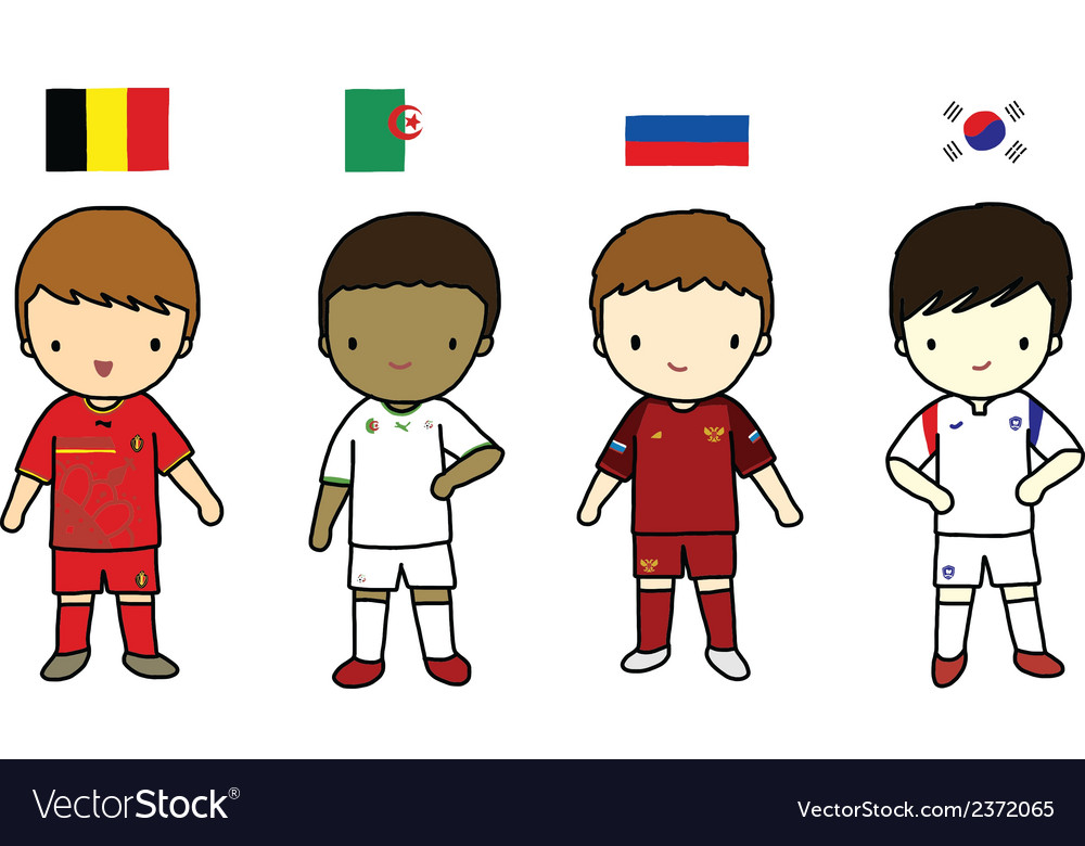 Fifa 2014 football players group h vector | Price: 1 Credit (USD $1)