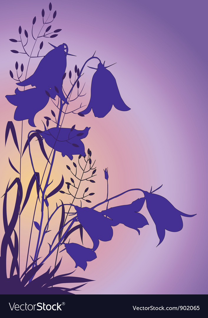 Flowers at dawn vector | Price: 1 Credit (USD $1)