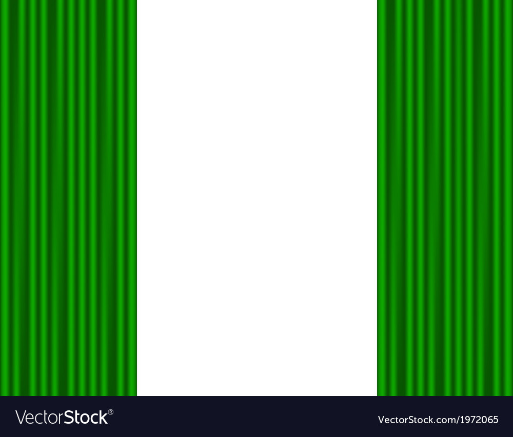 Green curtains on a white background vector | Price: 1 Credit (USD $1)