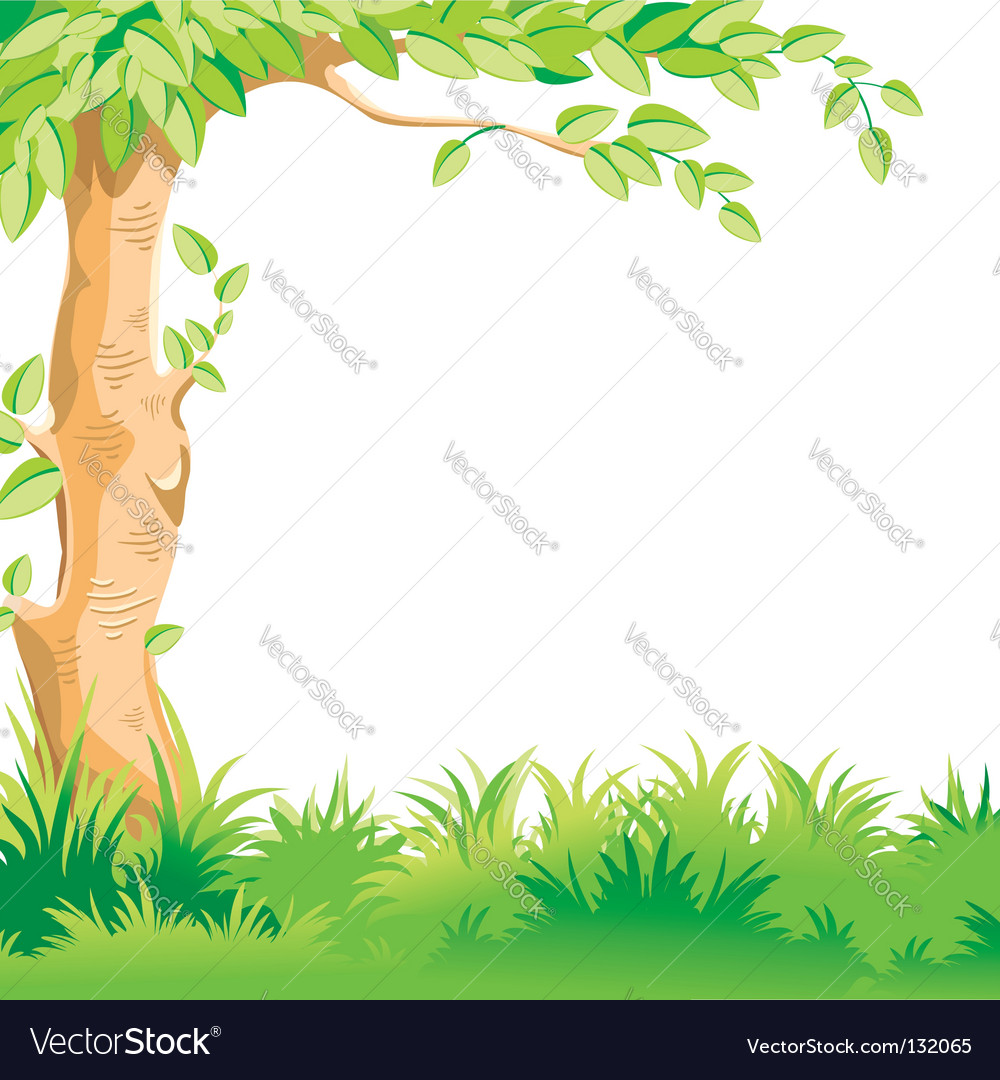 Landscape with a large tree vector | Price: 1 Credit (USD $1)