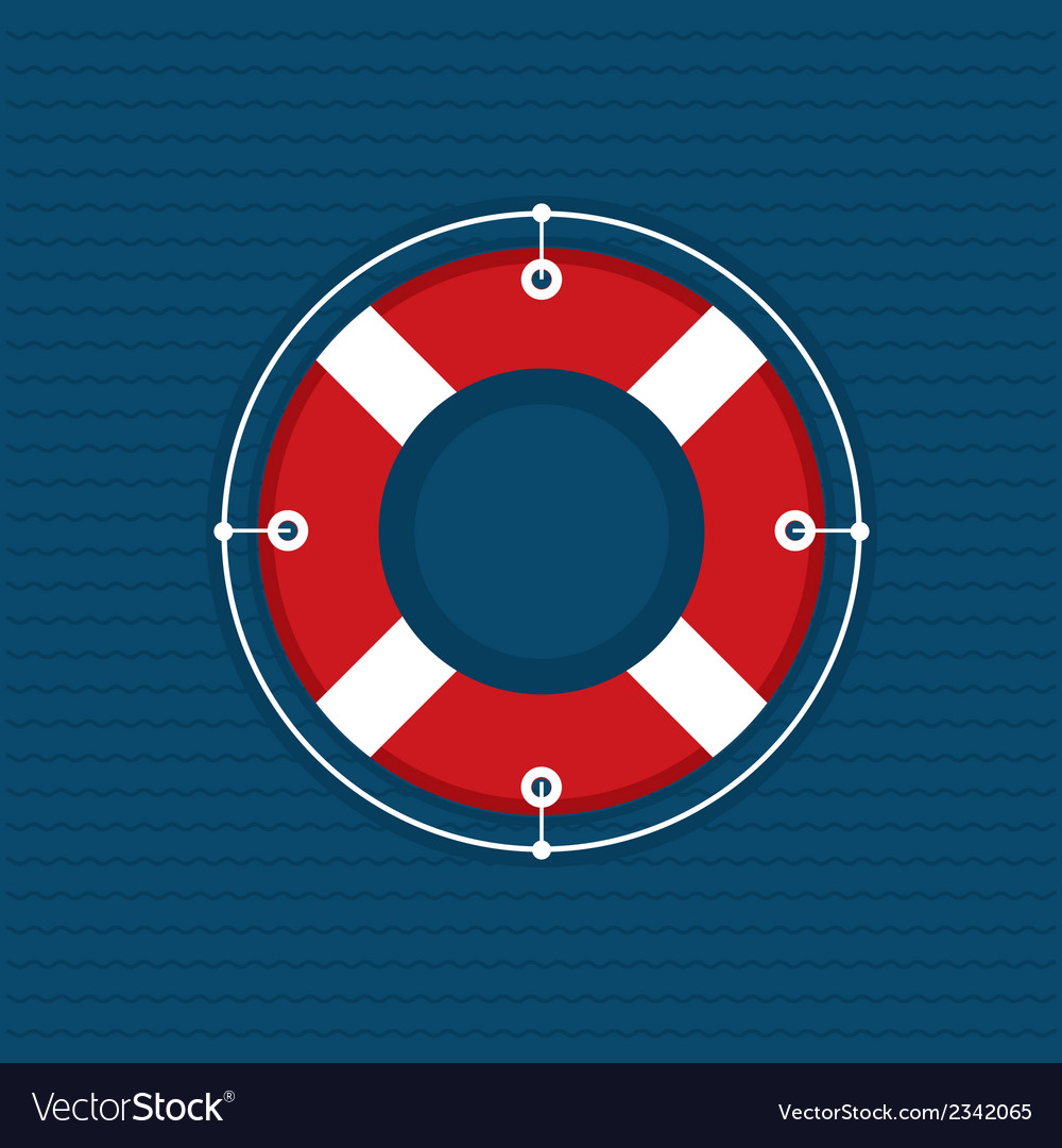 Lifebuoy vector | Price: 1 Credit (USD $1)