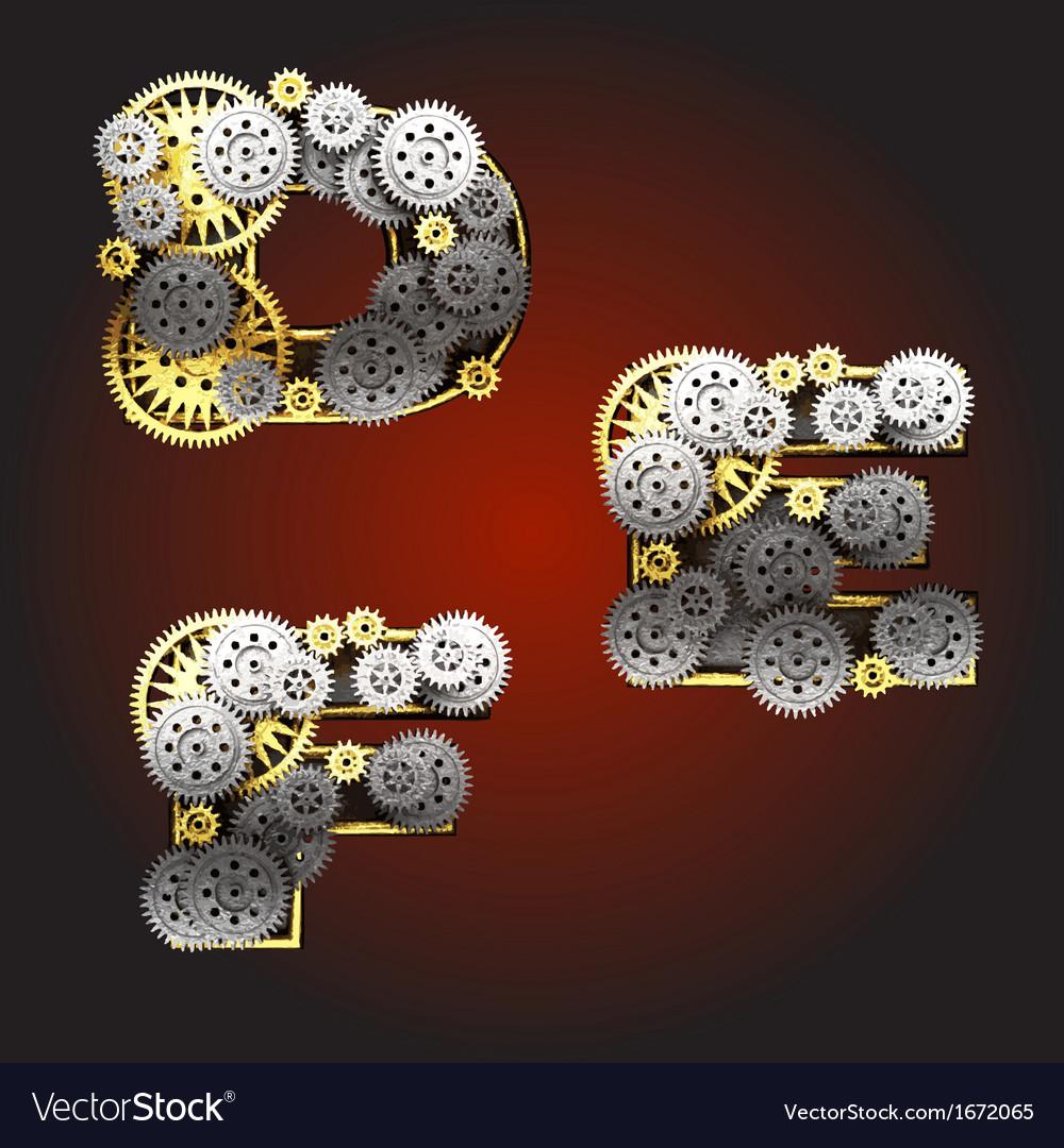 Metal figure with gearwheels vector | Price: 1 Credit (USD $1)