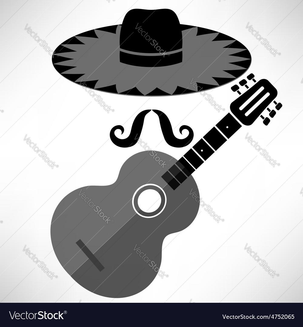 Mexican guitar vector | Price: 1 Credit (USD $1)