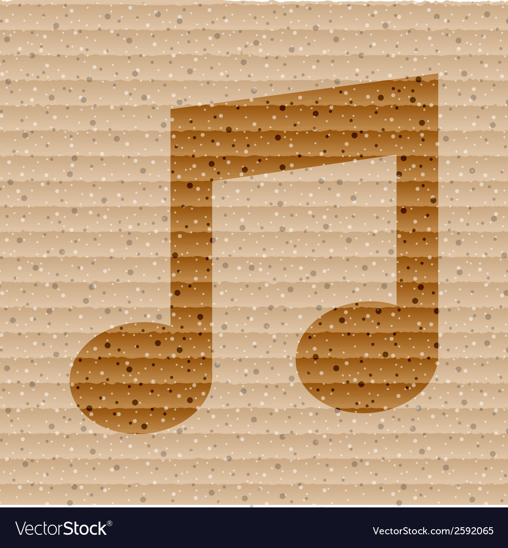 Music note flat modern web button and space for vector | Price: 1 Credit (USD $1)