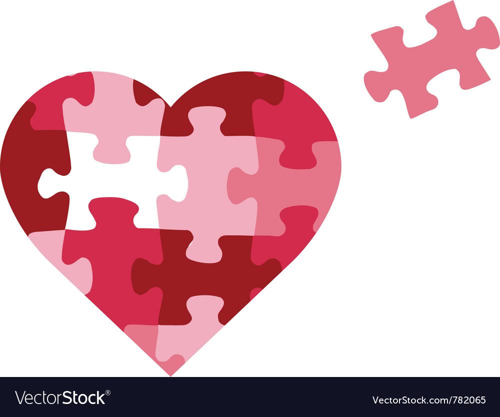 Puzzle heart icon vector | Price: 1 Credit (USD $1)