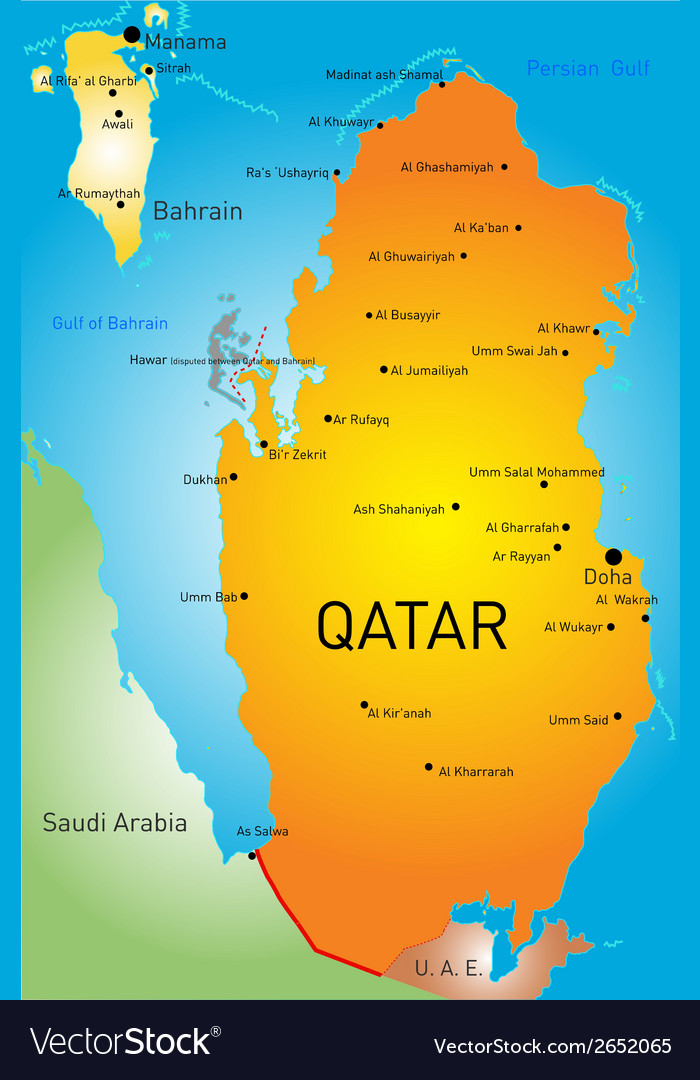 Qatar country vector | Price: 1 Credit (USD $1)