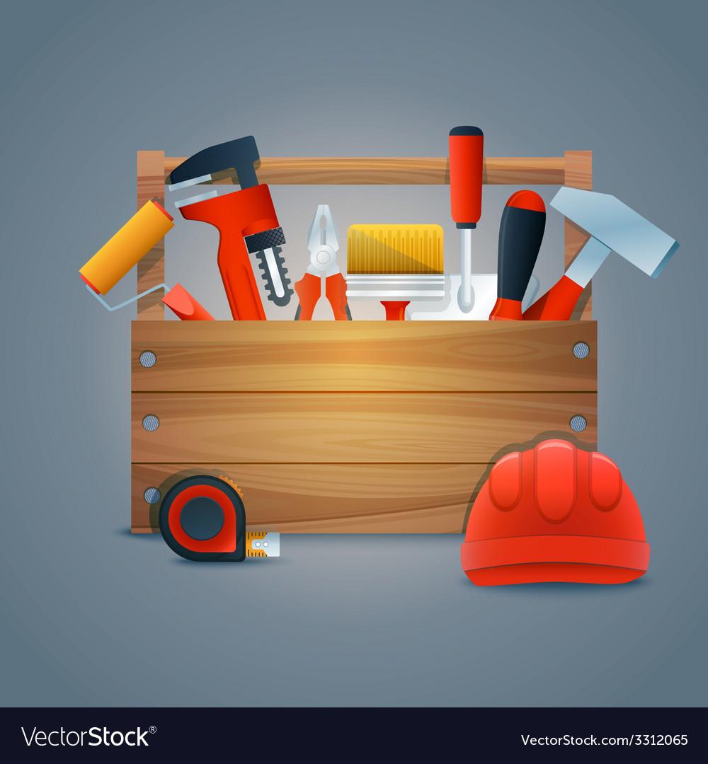 Repair construction toolbox vector | Price: 1 Credit (USD $1)