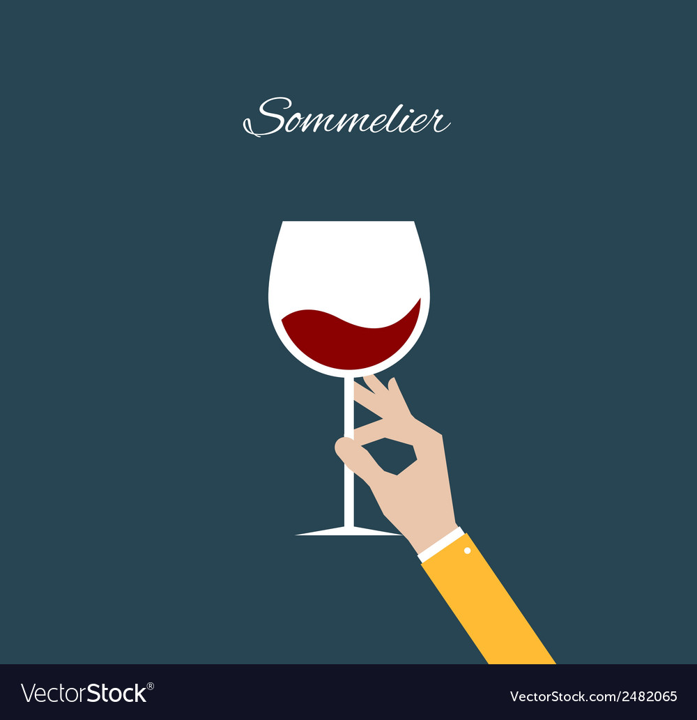 Sommelier flat vector | Price: 1 Credit (USD $1)