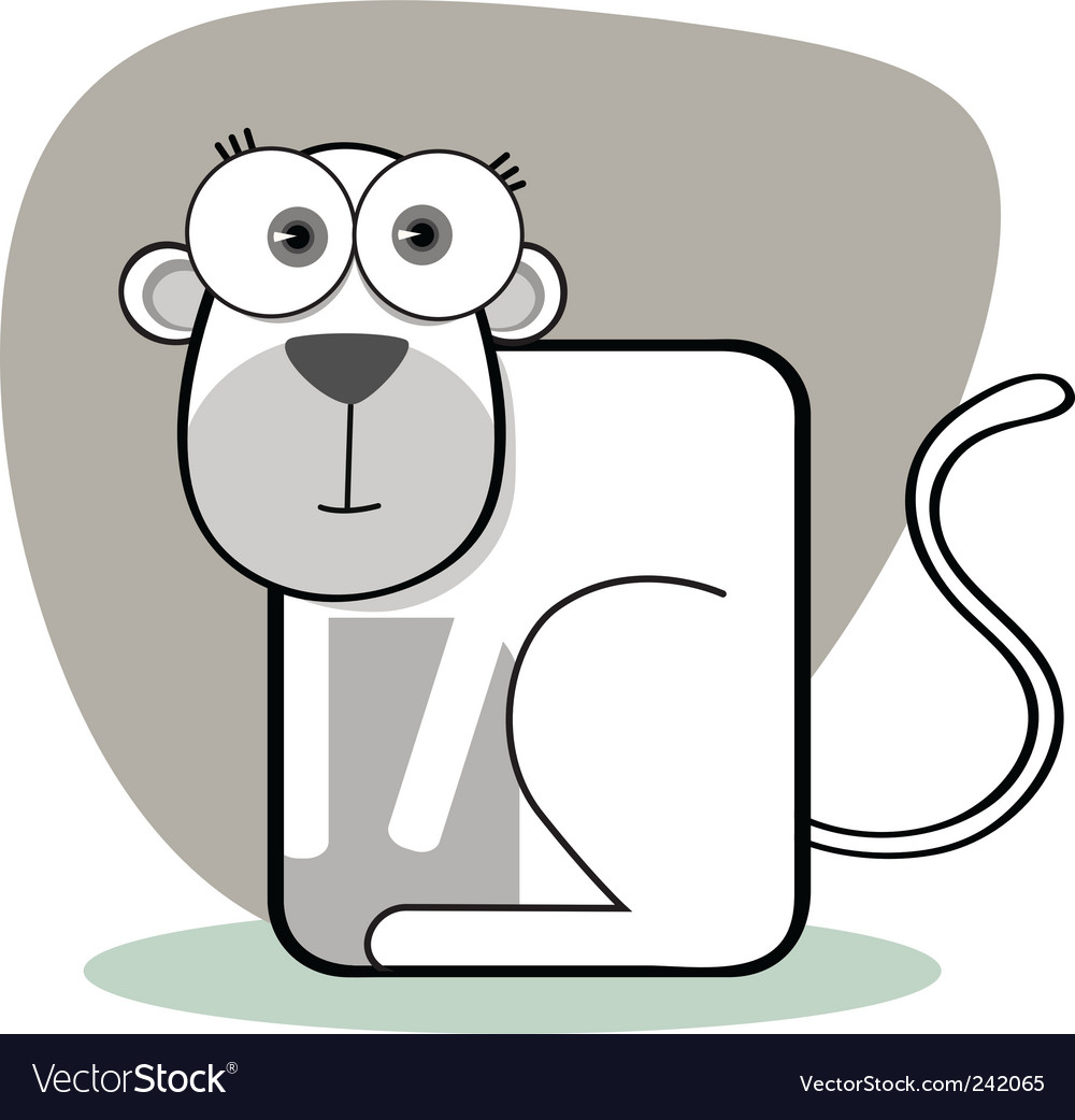 Square animal  monkey vector | Price: 1 Credit (USD $1)