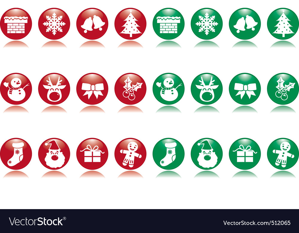 Xmas ball icons vector | Price: 1 Credit (USD $1)