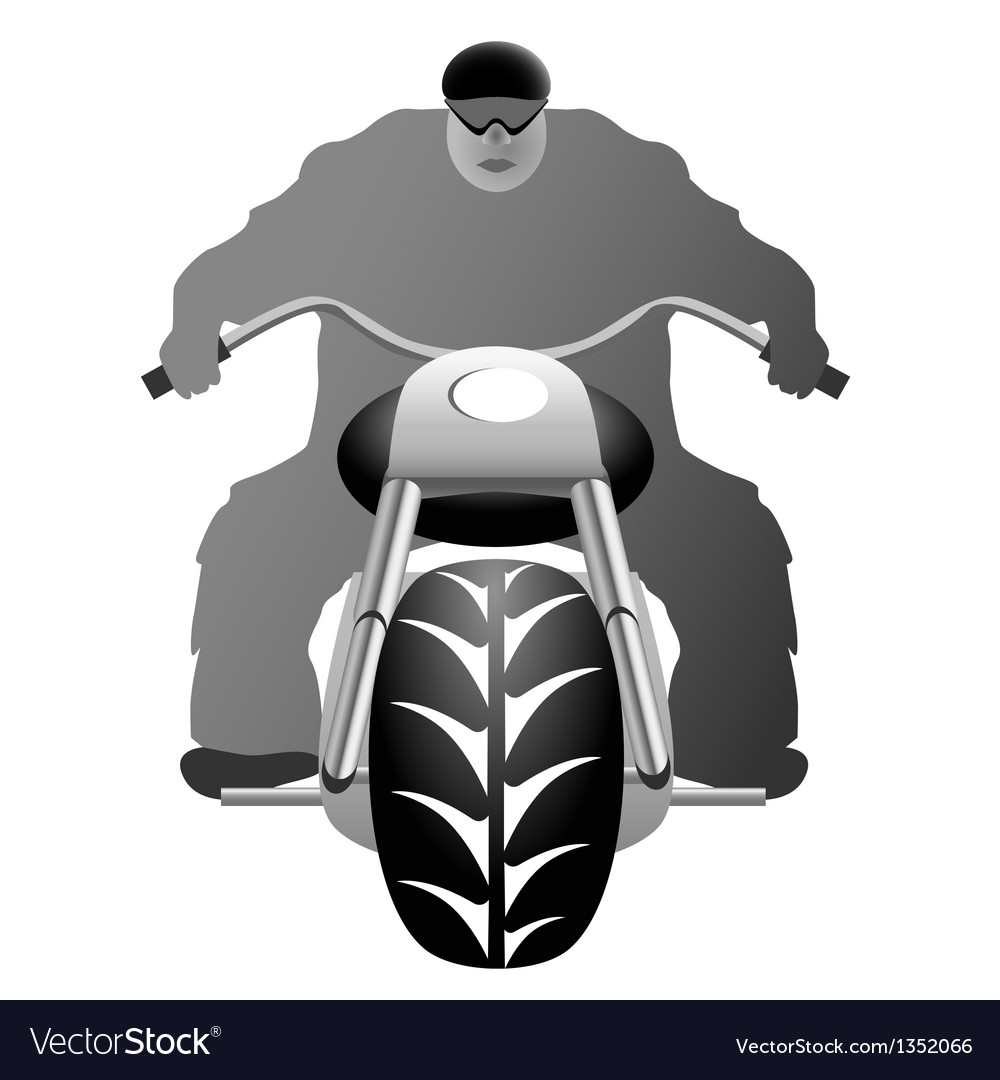 A healthy man on bike vector | Price: 1 Credit (USD $1)