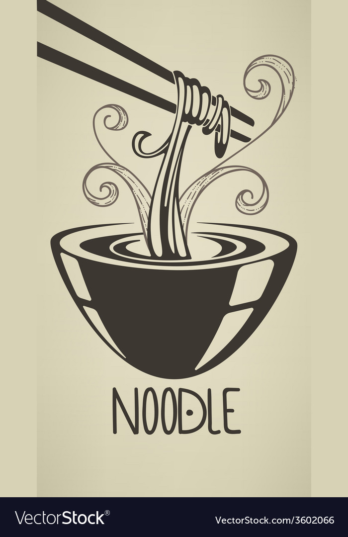 Asian noodle vector | Price: 1 Credit (USD $1)