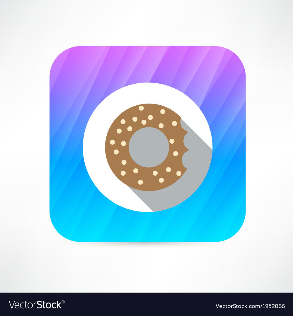 Bagel icon vector | Price: 1 Credit (USD $1)