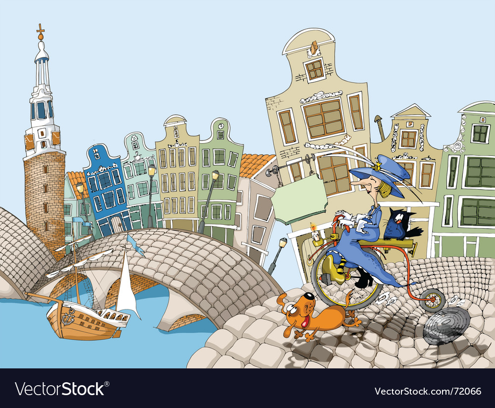 Bicycle in amsterdam vector | Price: 3 Credit (USD $3)