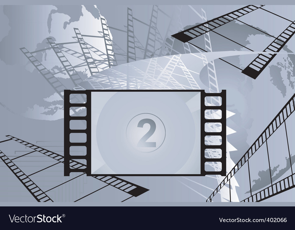 Film with number vector | Price: 1 Credit (USD $1)