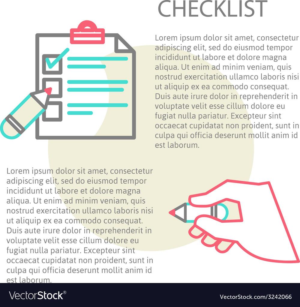 Line of a checklist vector   Price: 1 Credit (USD $1)
