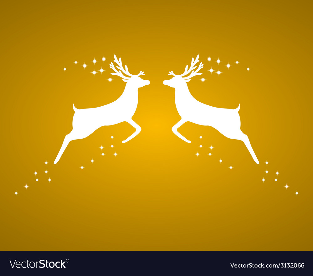 Reindeer silhouettes vector | Price: 1 Credit (USD $1)