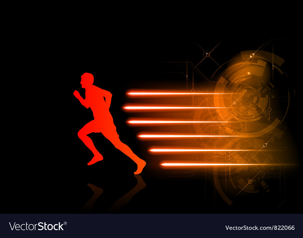 Runner modern background vector | Price: 1 Credit (USD $1)