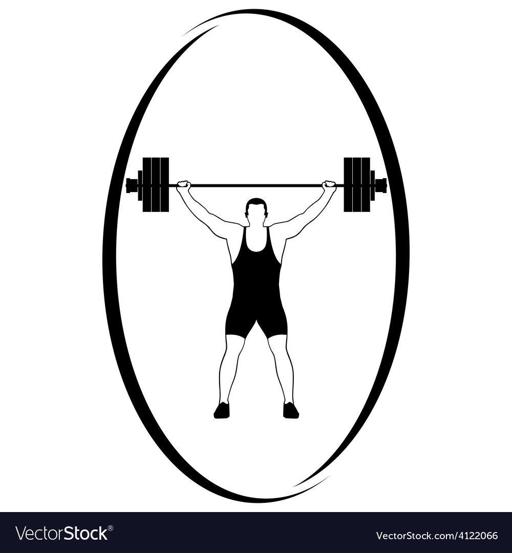 Weightlifting 1 vector | Price: 1 Credit (USD $1)