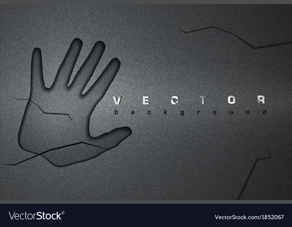 Asphalt background hand vector | Price: 1 Credit (USD $1)