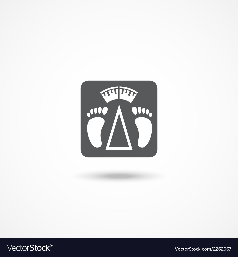 Bathroom scale icon vector | Price: 1 Credit (USD $1)