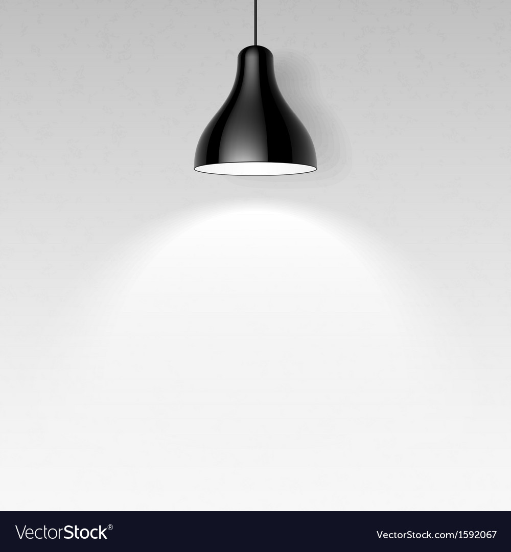 Black ceiling lamp vector | Price: 1 Credit (USD $1)