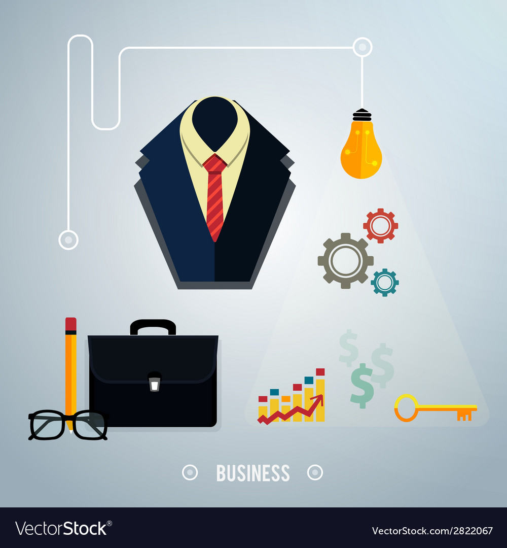 Business concept tools interier online documents vector | Price: 1 Credit (USD $1)