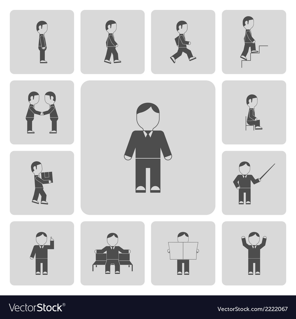 Business man activities icons vector | Price: 1 Credit (USD $1)