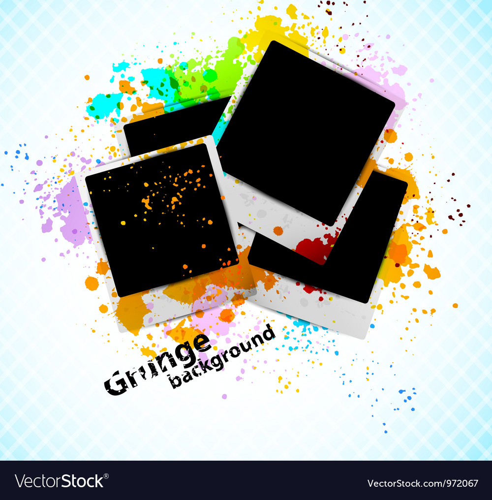 Grungr background with photoframe vector | Price: 1 Credit (USD $1)