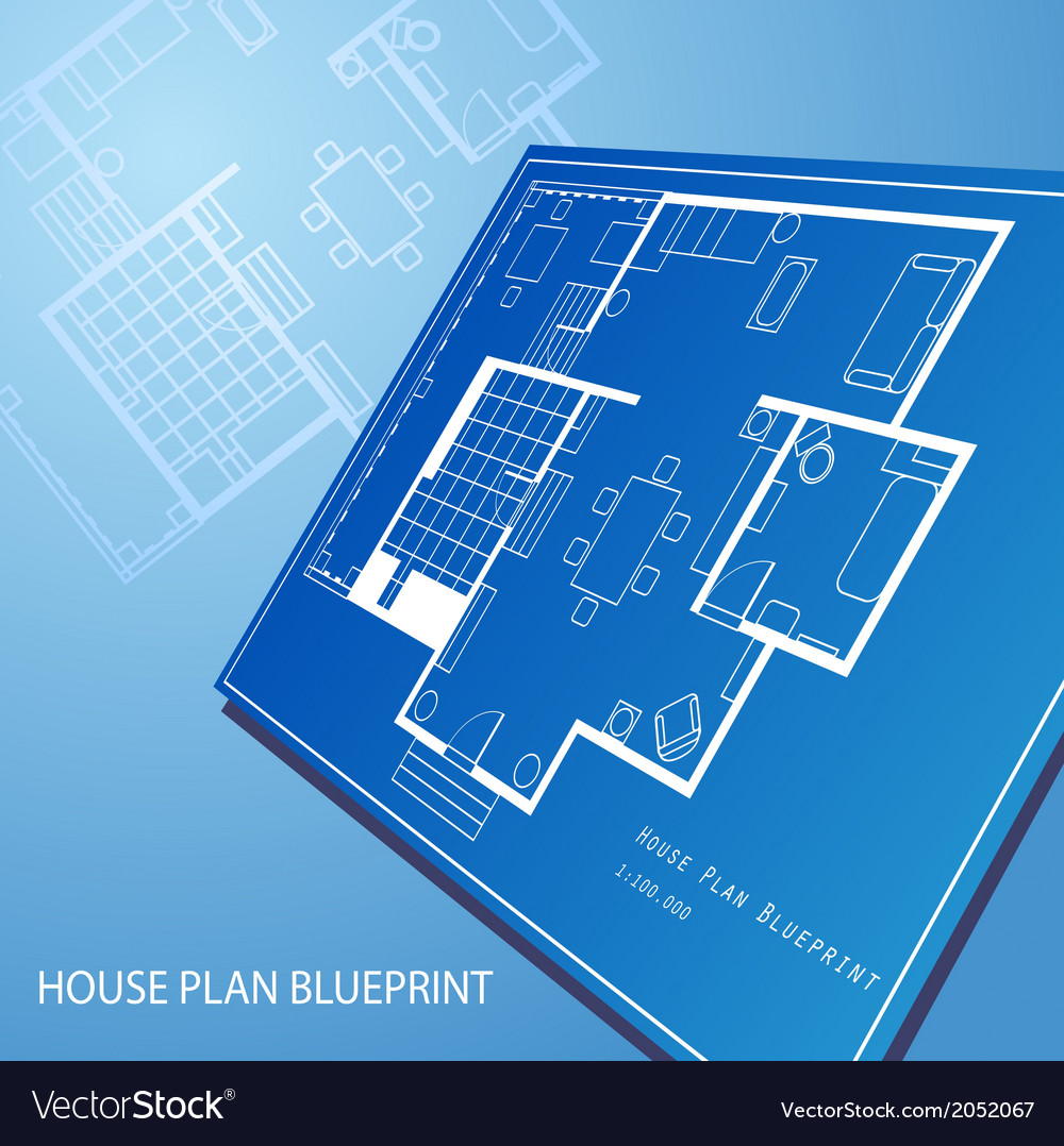 House plan blueprint text background vector | Price: 1 Credit (USD $1)
