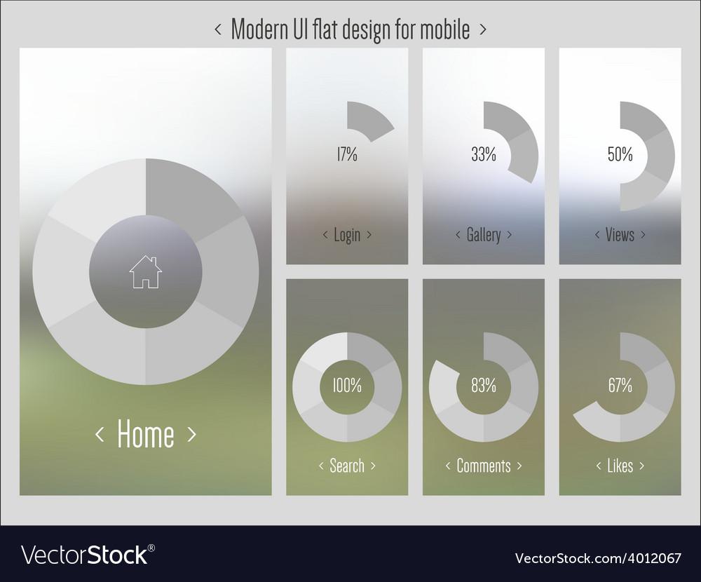 Moder ui flat design blurred pattern vector   Price: 1 Credit (USD $1)