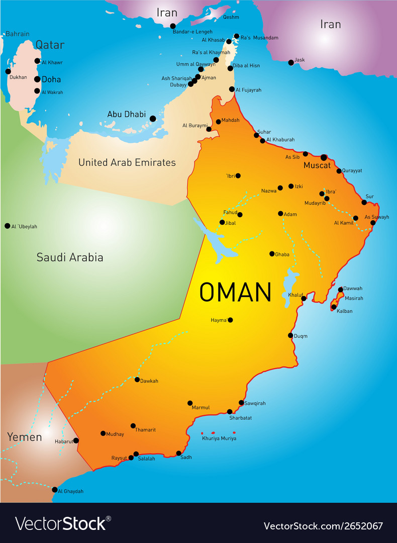 Oman country vector | Price: 1 Credit (USD $1)