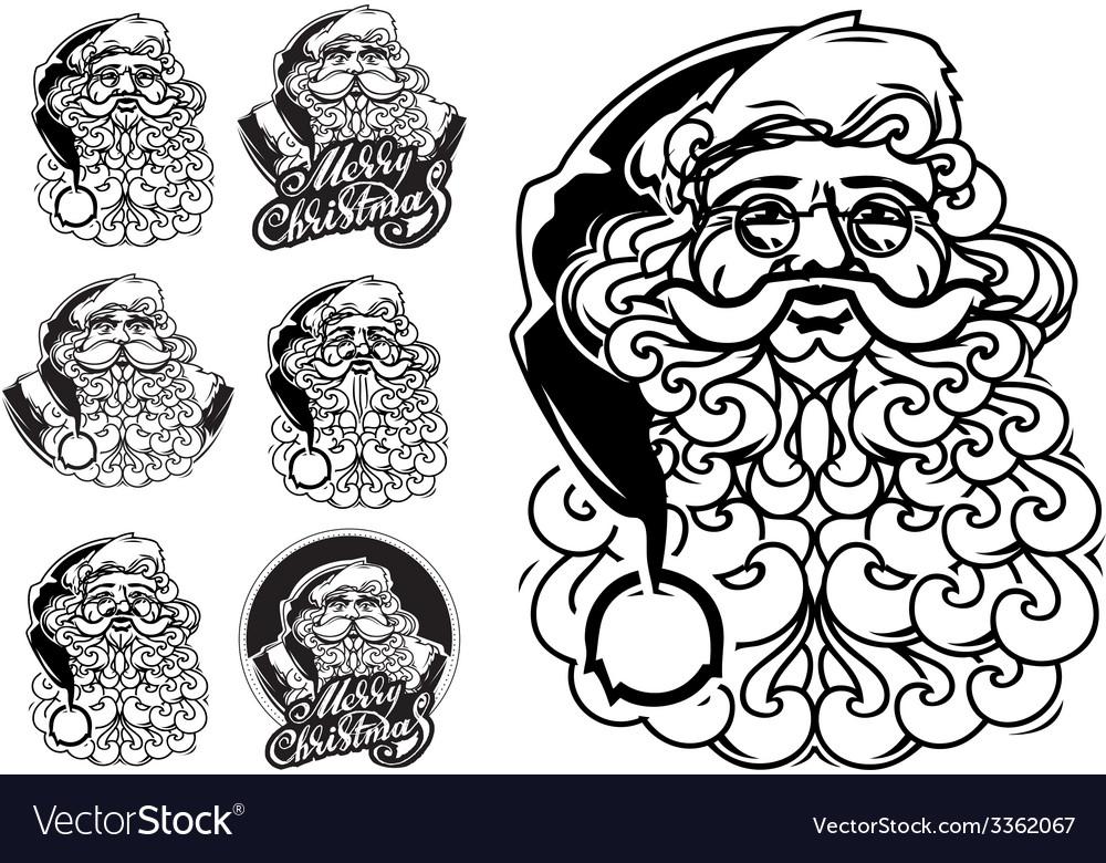 Santa claus hand drawn llustration sketch vector | Price: 1 Credit (USD $1)