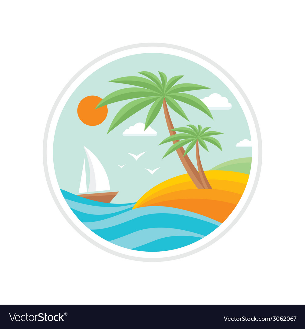 Summer holiday - travel logo vector | Price: 1 Credit (USD $1)