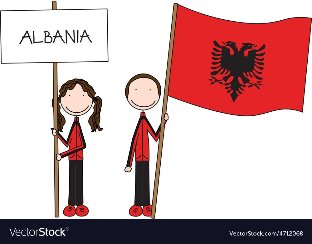 Albanian flag vector | Price: 1 Credit (USD $1)