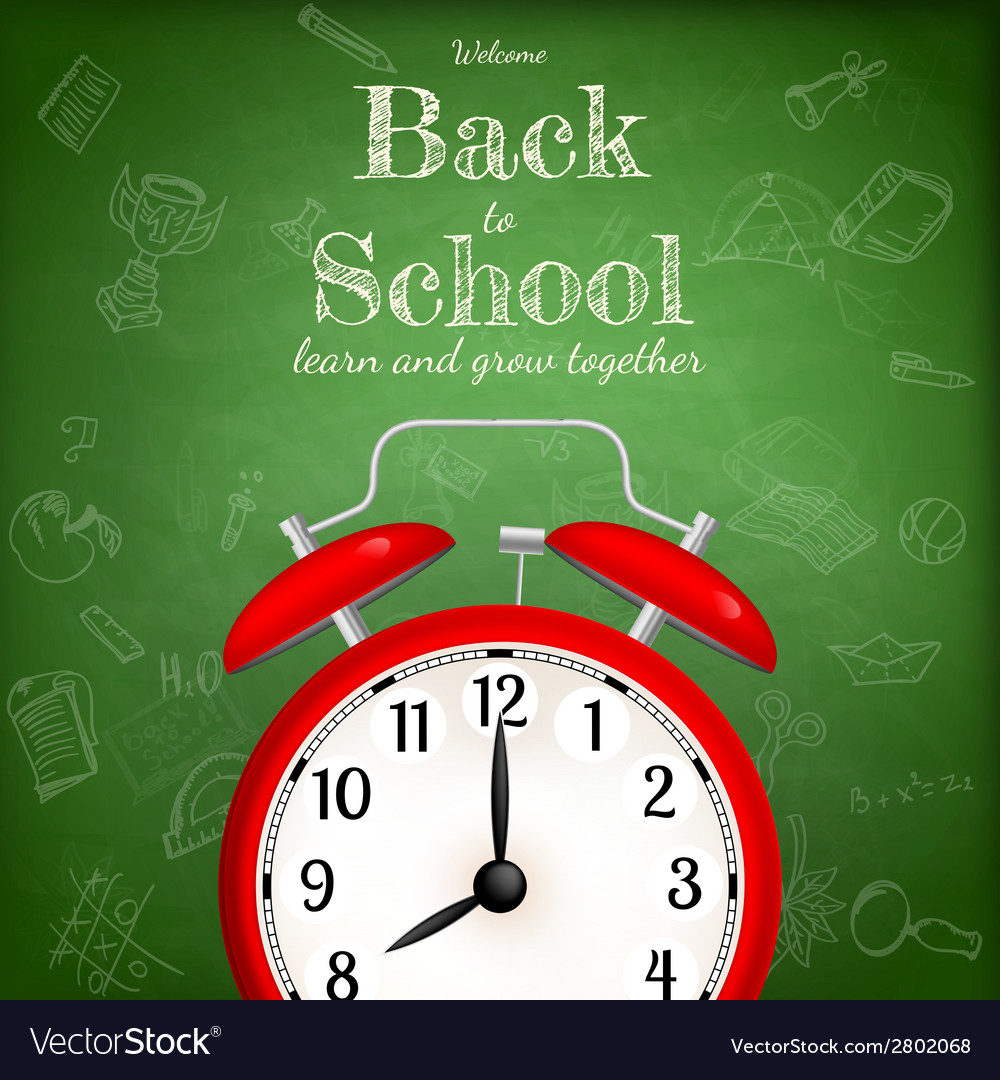 Back to school with alarm clock eps 10 vector | Price: 1 Credit (USD $1)