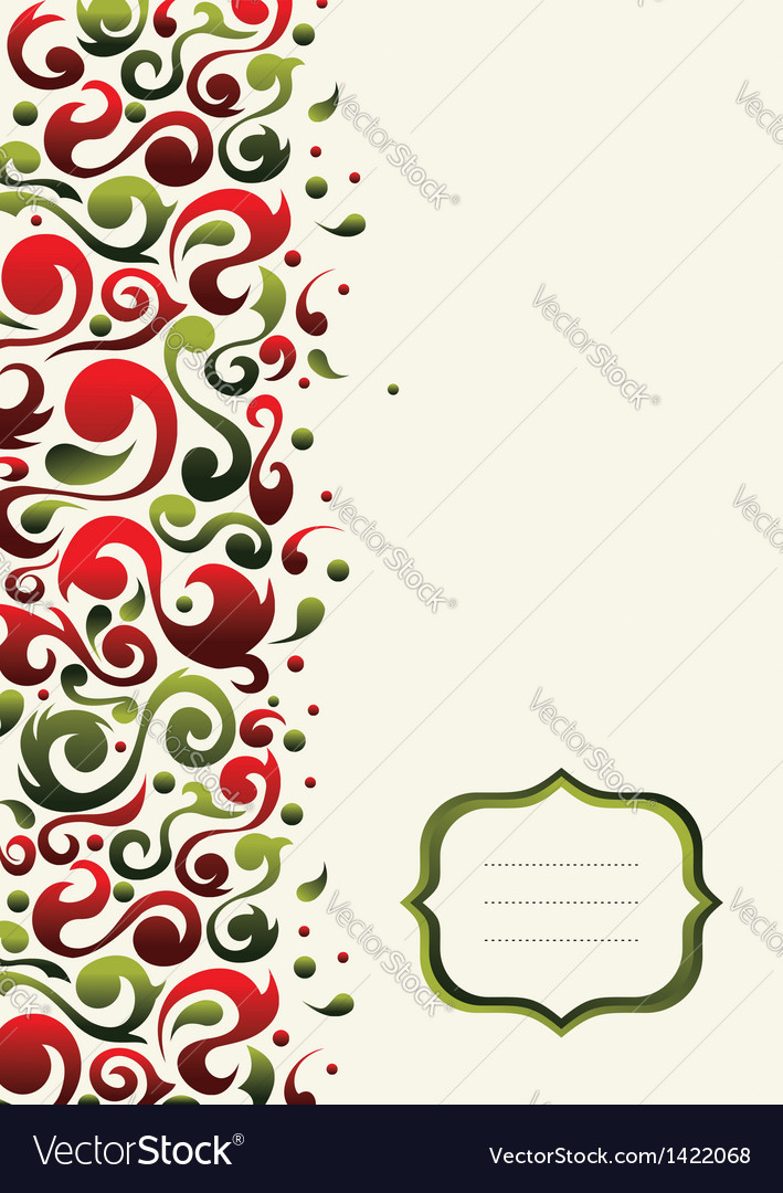 Christmas ornate postcard background vector | Price: 1 Credit (USD $1)
