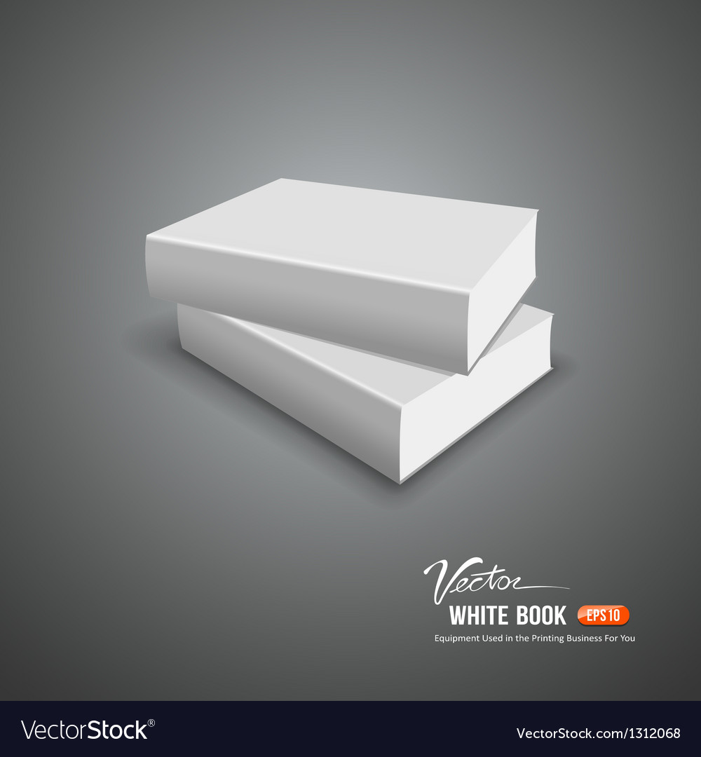 Cover white book empty template vector | Price: 1 Credit (USD $1)