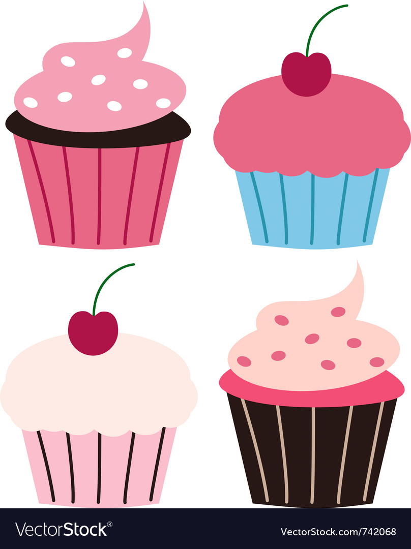 Fun cupcakes vector | Price: 1 Credit (USD $1)