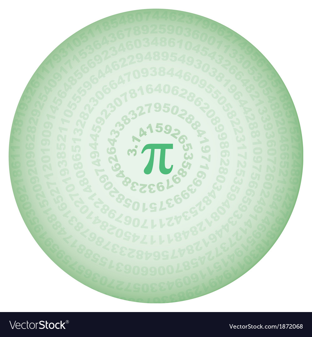 Green circle with number pi vector | Price: 1 Credit (USD $1)