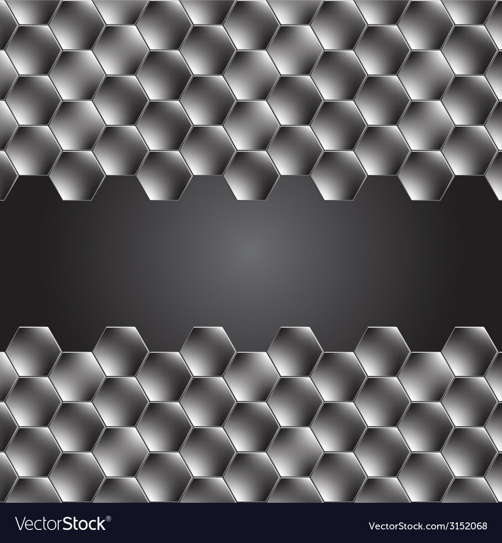Hexagon metal background with light reflection vector | Price: 1 Credit (USD $1)