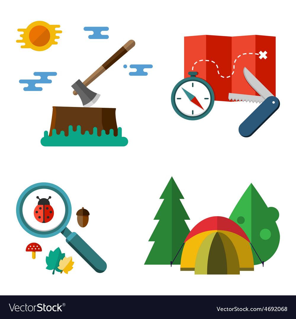 Hiking equipment vector | Price: 1 Credit (USD $1)
