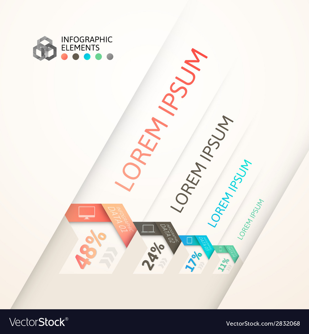 Modern business step origami style options banner vector | Price: 1 Credit (USD $1)