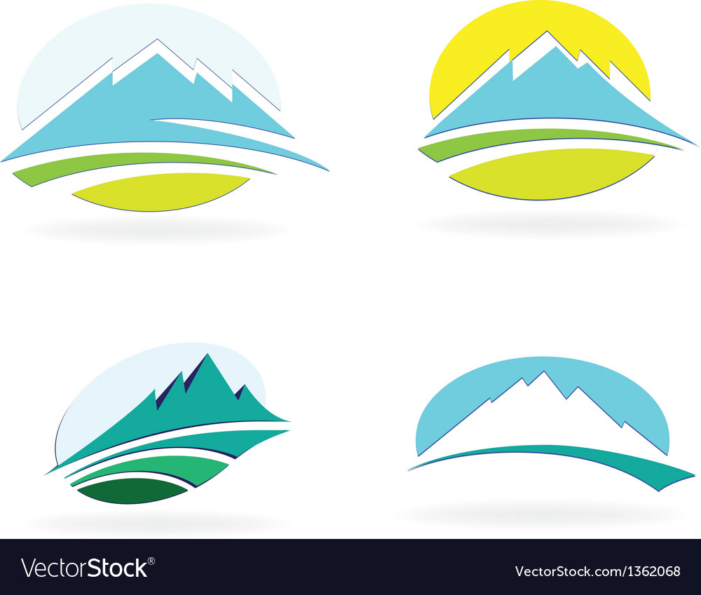 Mountain icons vector | Price: 1 Credit (USD $1)